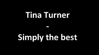 Tina Turner The Best Music