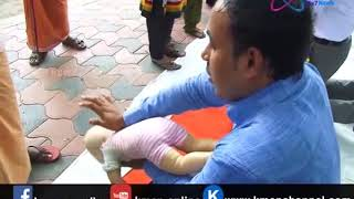 Demonstration for CPR and First Aid for Shocking in Babies