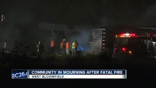 West Bloomfield community dealing with tragedy after deadly fire