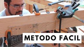 Como unir e instalar vigas de madera
