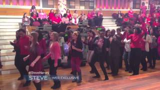 Steve Harvey - The Audience Doing The Cupid Shuffle During The Commerical Break