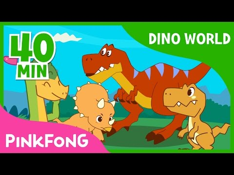 Download Dino World | T-Rex and more  | +Compilation | Dinosaur Musical | Pinkfong Stories for Children HD Mp4 3GP Video and MP3