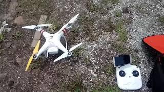 Test drone dji phantom 3 standard, service kecemplung air