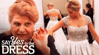 Bride Can't Move Her Arms in Her Wedding Dress! | Say Yes To The Dress
