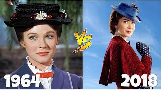 Mary Poppins Returns 1964 vs 2018 Then and Now
