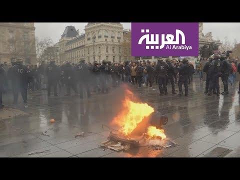 العرب اليوم - شاهد:إجراءات غير مسبوقة في سبت باريس الأسود