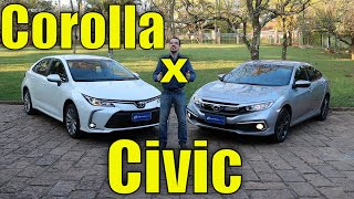 Comparativo: Corolla XEi x Civic EXL