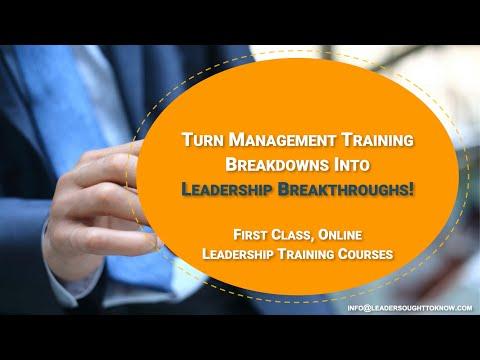 Online Management Training Courses | LeadersOughtToKnow.com ...