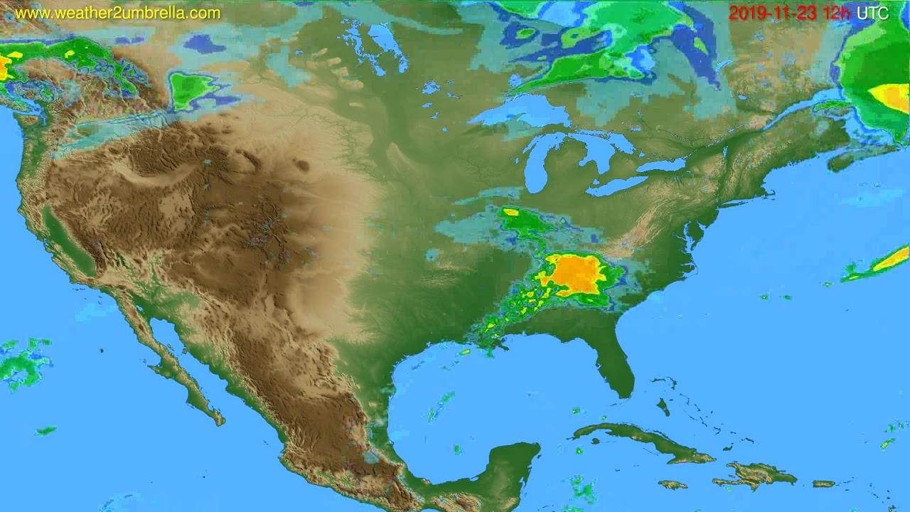 Radar forecast USA & Canada // modelrun: 00h UTC 2019-11-23