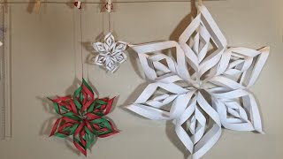 Paper snowflakes 3D