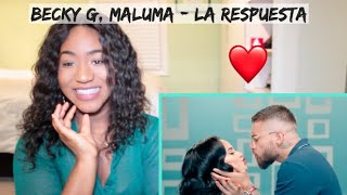 Becky G, Maluma   La Respuesta (Official Video) | REACTION