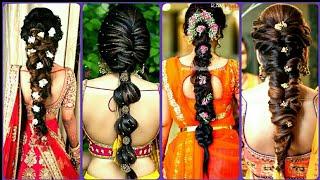 Simple Braid Indian Bridal Hairstyles | Perfect Bridal Plait Wedding Hairstyles