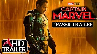 Captain Marvel -TEASER TRAILER - Brie Larson, Gemma Chan Film (CONCEPT)
