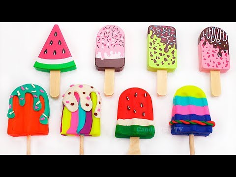 Learn Colors with Ice Cream Popsicles | Play Doh Ice Cream and Popsicle Toys |Learn Colours for Kids