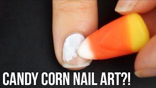 Nail Art Tutorial Using Candy Corn?! || KELLI MARISSA