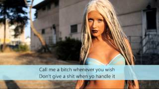 Christina Aguilera - SHUT UP  with Lyrics