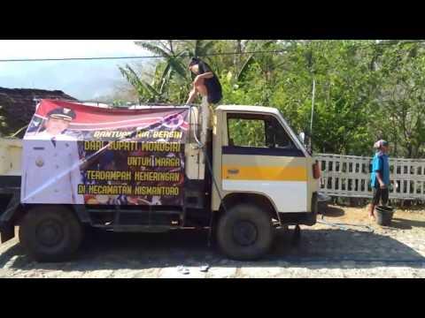 Bantuan air bersih dari bupati wonogiri untuk warga yang terdampak kekeringan