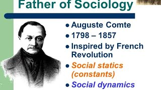 AUGUSTE COMTE  -(sociology )law of three stages, hierarchy of science तीन स्तरों का नियम ,