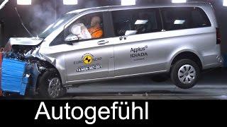 Mercedes V-Class V-Klasse 2015 crash test & ESC test - Autogefühl