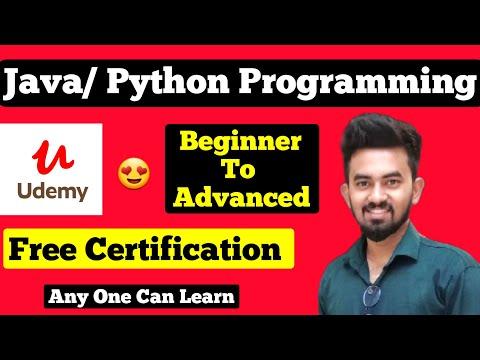 Pyhton/Java Udemy Free Certification Courses || Chandan Patel ...