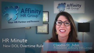 New Department of Labor Overtime Rule- HR Minute
