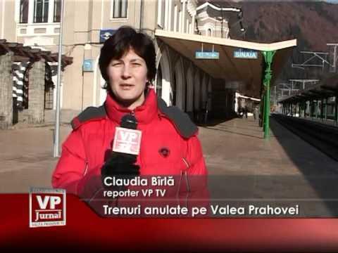 Trenuri suspendate pe Valea Prahovei