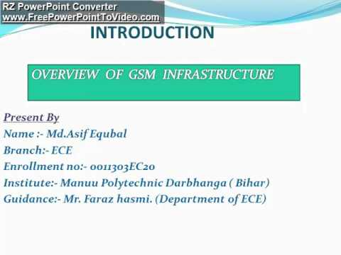 Overview Of Gsm Infrastructure Ppt By Asif Manuu Mp3
