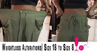 How to Alter a Size 18 Pants to a Size 8 (Weightloss Alterations)