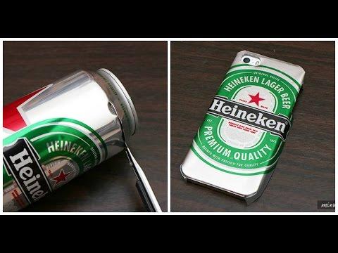 Aprende cómo hacer un case de tu cerveza favorita usando la lata ¡Está súper fácil!