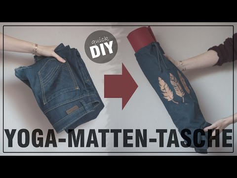 DIY Yogamatten Tasche aus alten Jeans - schnell, einfach und leicht - DIY Fashion April