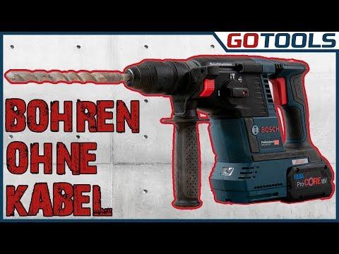 18V Akku Bohrhammer - ENDLICH BOHREN + MEISSELN OHNE KABEL der GBH 18V-26 F