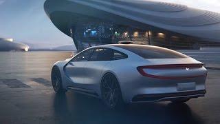 Репортаж Первого канала об электромобиле LeSee с автомобильной выставки в Пекине 26 апреля 2016 года