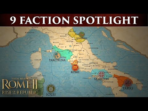 Total War: ROME 2 - The 9 Factions of Rise of the Republic thumbnail