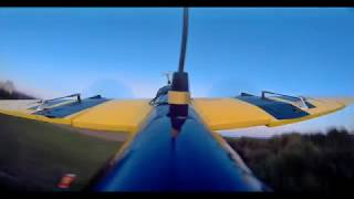 Twin motor FPV Lidl Glider with Inav - tracked by DJI digital System