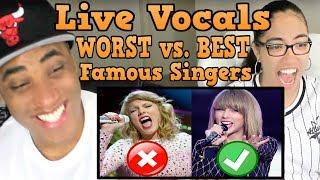 Famous Singers WORST vs. BEST Live Vocals (Compilation) Same Song Comparison REACTION