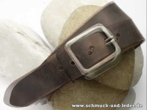 Ledergürtel für Damen und Herren von Schmuck & Leder