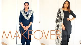 हिंदी Easy Housewife Makeover || Housewife to Glam Wife || Brownbeautysimor