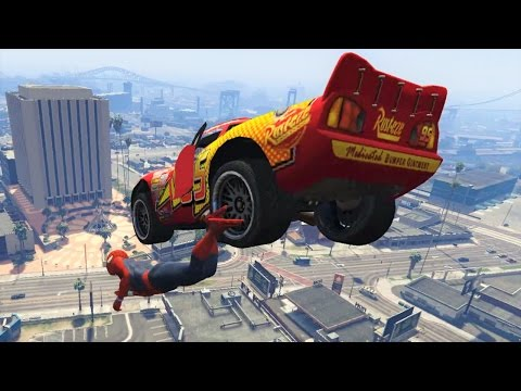 Lightning McQueen Mega Ramp Jumps & Stunts With Spiderman! Disney Pixar Cars