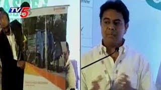 Minister KTR Addresses Waste Management Summit by GHMC and ELETS at Taj Krishna