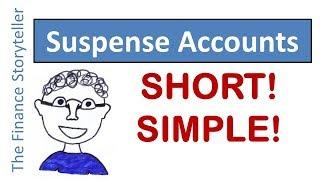 Suspense accounts: short explanation