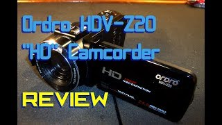 "Ordro HDV-Z20 ""HD"" Camcorder FAIL (Review)"