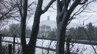 Snow Falling & Strong Wind Blowing in Glastonbury   Winter Snowstorm Sounds for Sleeping & Relaxing