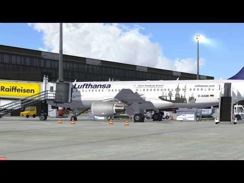 Prepar3D | FSLABS A320 First flight | EDDF - LOWW Part 2