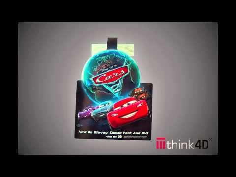 Disney Cars 2 Think4D Shelf Talker