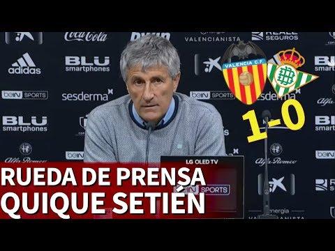 Valencia 1 - Betis 0 |Rueda de prensa de Setién |Diario As