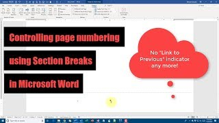 How to number your pages by section in Microsoft Word