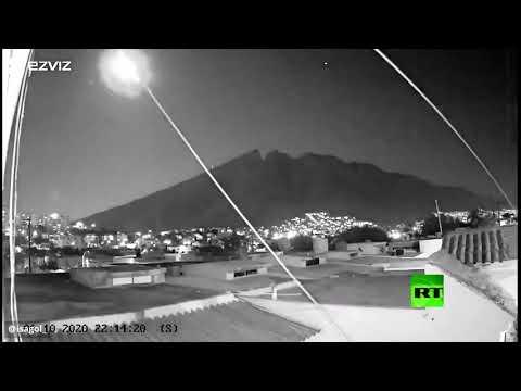 العرب اليوم - شاهد: كاميرات المراقبة تُسجّل لحظة سقوط نيزك في المكسيك