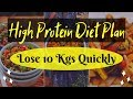 High Protein Diet Plan for Weight Loss | Indian Protein Recipes Vegetarian | Lose 10 Kgs in 10 Days