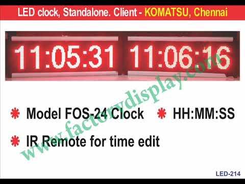LED Remote Clock
