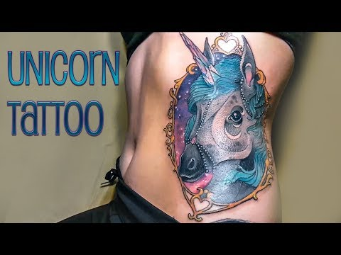 eebc0f44309e4 Galaxy Unicorn / ribs tattoo - Ashi Monster